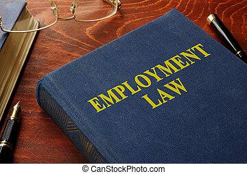 law., livre, emploi, titre