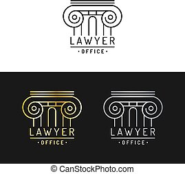 Law office logos set.