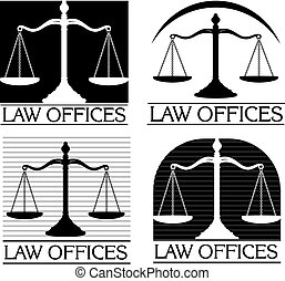 Law Offices is an illustration of four designs that can be used for law offices, lawyers or law firms.
