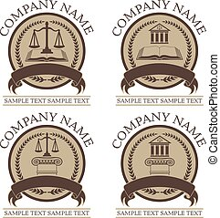 Law or Lawyer Seal Design Set
