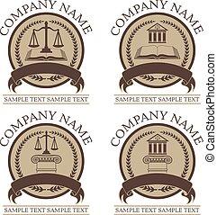 Law or Lawyer Seal Design Set