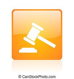 law orange square web glossy icon