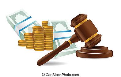 law representation costs concept illustration design over...