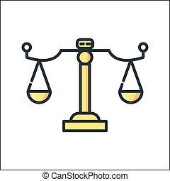 law scale icon color