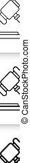Law simple black line vector icon