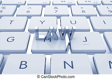 Law text on computed keyboard