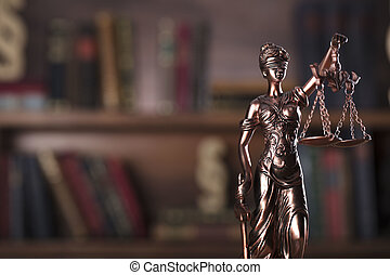 Law theme. - Law and justice symbol - Themis.
