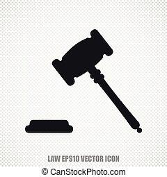 Law vector Gavel icon. Modern flat design.