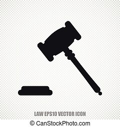 Law vector Gavel icon. Modern flat design.
