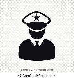 Law vector Police icon. Modern flat design.