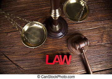 Law wooden gavel barrister, justice concept, legal system...