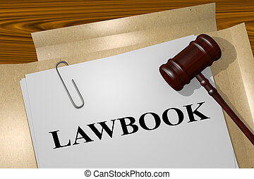 Lawbook - legal concept