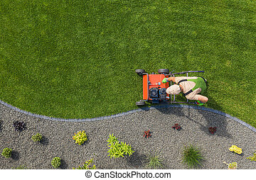 Lawn Aerator Job For Controlling Lawn Thatch and Soil Compaction