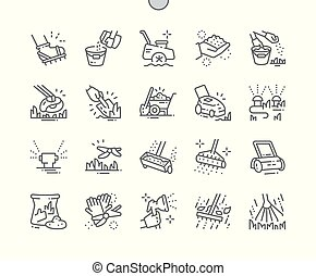 Lawn care Well-crafted Pixel Perfect Vector Thin Line Icons ...