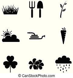 lawn icon set