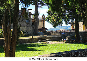 Lawn in the city park of San Marino