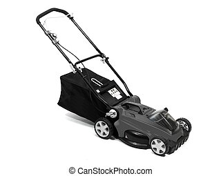 Lawn Mower - A rechargable lawn mower on a white background