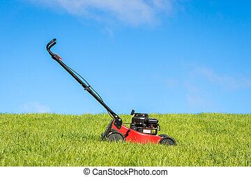 Lawn Mower in Grass