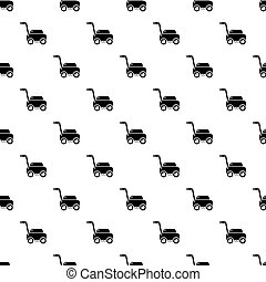 Lawn mower machine pattern seamless