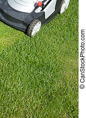 Lawn Mower - Outdoor shot of a lawn mower