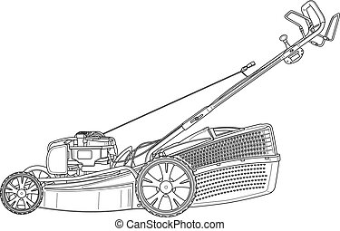 lawn Mower technical illustration