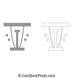 Lawn sprinklers set icon .