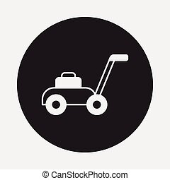lawngräsklippningsmaskin, ikon