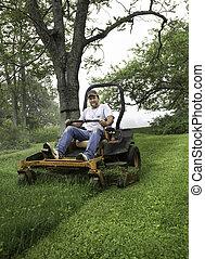 lawnmower, 남자