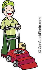 lawnmower, 정원사