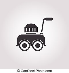 lawnmower icon on white background