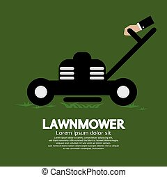 Lawnmower. - Lawnmower Vector Illustration.