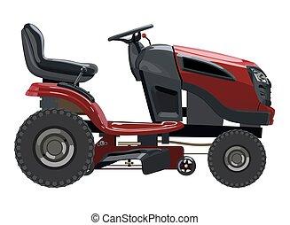 lawnmower, vermelho