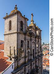 lawrence, 教会, porto, ファサド, ポルトガル, st.