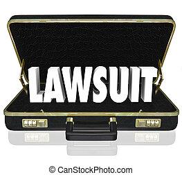 Lawsuit Briefcase Legal Court Case 3d Words - Lawsuit 3d...