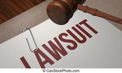 Lawsuit legal concept shot clip