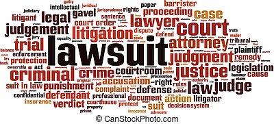 Lawsuit word cloud