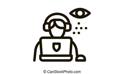 lawyer and policeman Icon Animation. black lawyer and policeman animated icon on white background