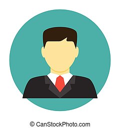 Lawyer avatar flat icon
