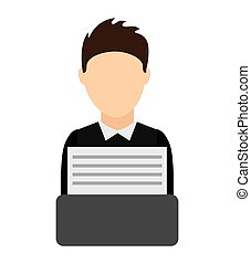 lawyer avatar isolated icon