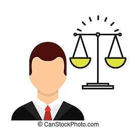 lawyer avatar with scale