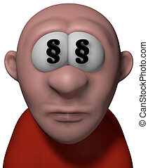 lawyer - cartoon man with paragraph symbols in his eyes - 3d...