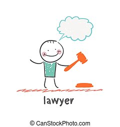 lawyer. Fun cartoon style illustration. The situation of ...