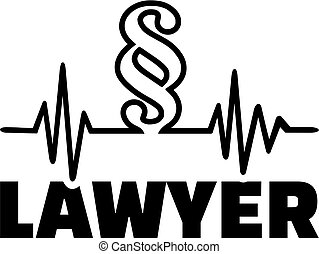 Lawyer heartbeat line with paragraph