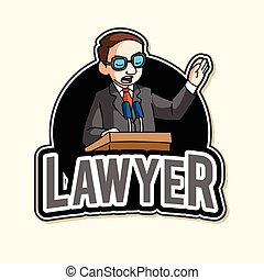 lawyer illustration design
