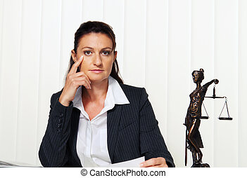 Lawyer in the office. Advocate for law and order - Young...