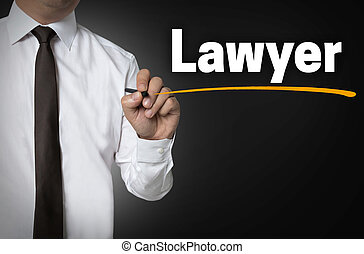 Lawyer is written by businessman background concept