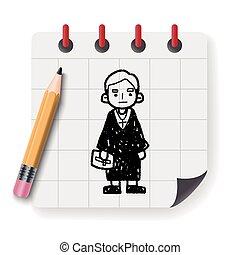 lawyer judge doodle