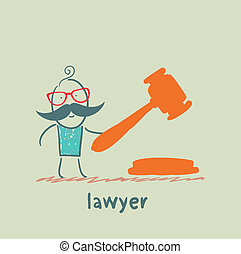 lawyer knocking hammer