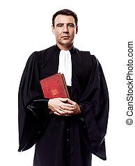 lawyer man portrait - one caucasian lawyer man in studio...