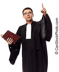 lawyer man portrait - one caucasian lawyer man pleading in...